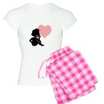 Valentine Silhouette Thinking Women's Light Pajama