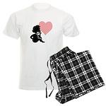 Valentine Silhouette Thinking Men's Light Pajamas