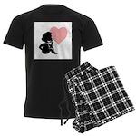 Valentine Silhouette Thinking Men's Dark Pajamas