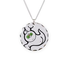 Goofy Flying Ghost Necklace