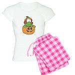 Silly Froggy in Pumpkin Women's Light Pajamas