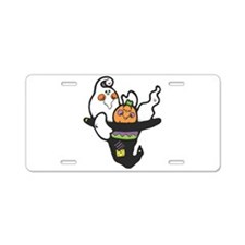 Ghost in Witch's Hat Aluminum License Plate