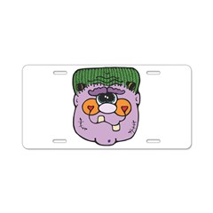 Goofy Purple Frankenstein Hea Aluminum License Pla