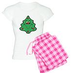 Cute Happy Christmas Tree Women's Light Pajamas