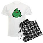 Cute Happy Christmas Tree Men's Light Pajamas