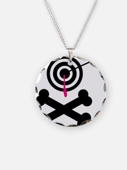 Poison Bullseye Crossbones De Necklace Circle Char