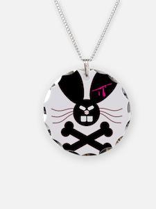 Evil Emo Bunny Crossbones Des Necklace