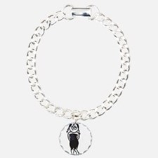 Sexy Goth Emo Girl Illustrati Charm Bracelet, One