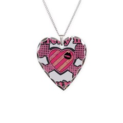 Pretty in Punk Heart and Cros Necklace