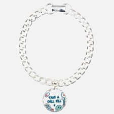 Chill Pill Retro Collage Desi Charm Bracelet, One