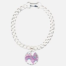 Rainbow Hearts Spirals Hippie Charm Bracelet, One