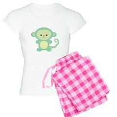 Cute Kawaii Green Monkey Pajamas