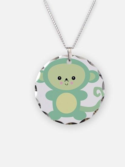 Cute Kawaii Green Monkey Necklace