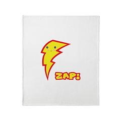Cute Zap Comic Lightning Bolt Throw Blanket