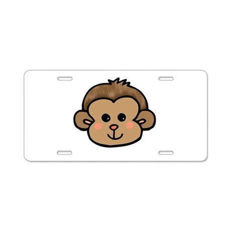 Monkey Face Aluminum License Plate