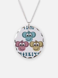 I love Monkeys Retro Style Necklace