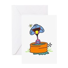 Flamingo in Pool Greeting Card