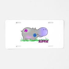 Hippie Hippo Aluminum License Plate