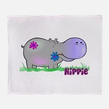 Hippie Hippo Throw Blanket