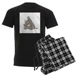 Rhino with an Attitude Men's Dark Pajamas