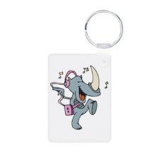Rockin' Dancing Rhino Keychains