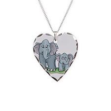 Mommy & Baby Elephant Necklace
