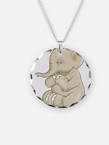 Sad Praying Elephant Necklace