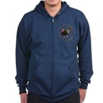 Turkey Circle Zip Hoodie (dark)