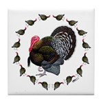Turkey Circle Tile Coaster