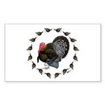 Turkey Circle Sticker (Rectangle 10 pk)