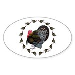 Turkey Circle Sticker (Oval 10 pk)