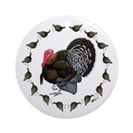 Turkey Circle Ornament (Round)