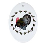Turkey Circle Ornament (Oval)