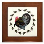 Turkey Circle Framed Tile