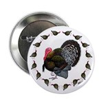"Turkey Circle 2.25"" Button (10 pack)"