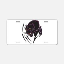 Black Panther Tribal Design Aluminum License Plate