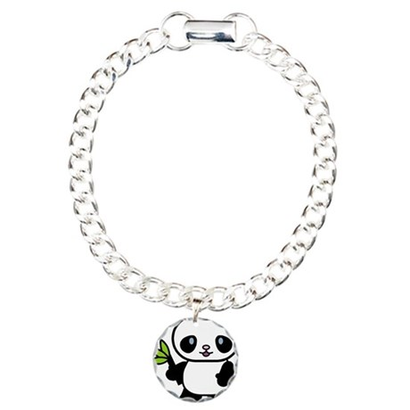 Cute Panda Charm Bracelet, One Charm