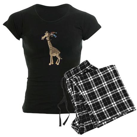 Silly Monkey & Giraffe Women's Dark Pajamas