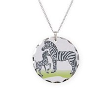 Mommy and Baby Zebra Necklace