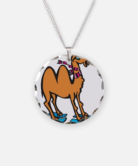 Silly Skiing Camel Necklace