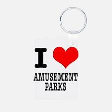 I Heart (Love) Amusement Park Keychains