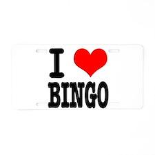 I Heart (Love) Bingo Aluminum License Plate