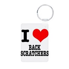 I Heart (Love) Back Scratcher Aluminum Photo Keych