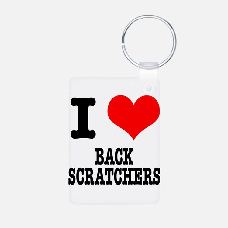 I Heart (Love) Back Scratcher Keychains
