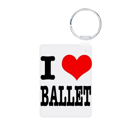 I Heart (Love) Ballet Aluminum Photo Keychain