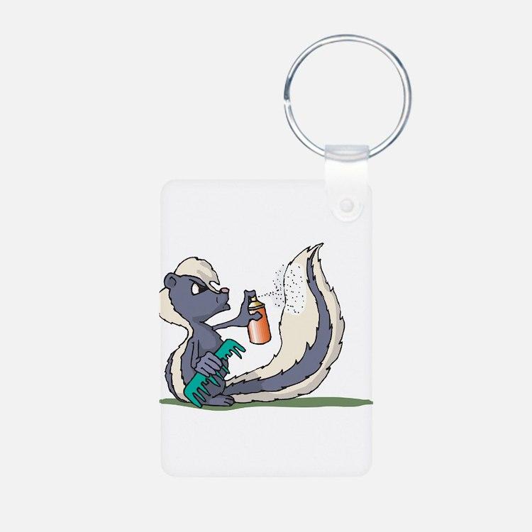 Stinky Skunk using Deodorant Keychains