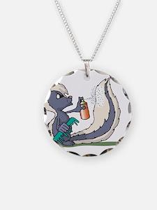 Stinky Skunk using Deodorant Necklace