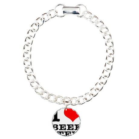I Heart (Love) Beef Stew Charm Bracelet, One Charm