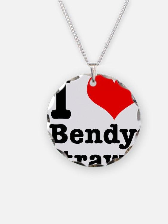 I Heart (Love) Bendy Straws Necklace