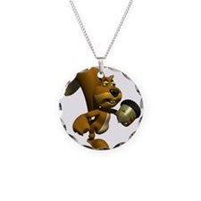 3D Squirrel with Acorn Necklace
